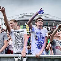 Nederland, Amsterdam, 16 juli 2016.<br /> We are the future festival in Arena park voor jongeren onder de 18 jaar.<br /> <br /> Foto: Jean-Pierre Jans