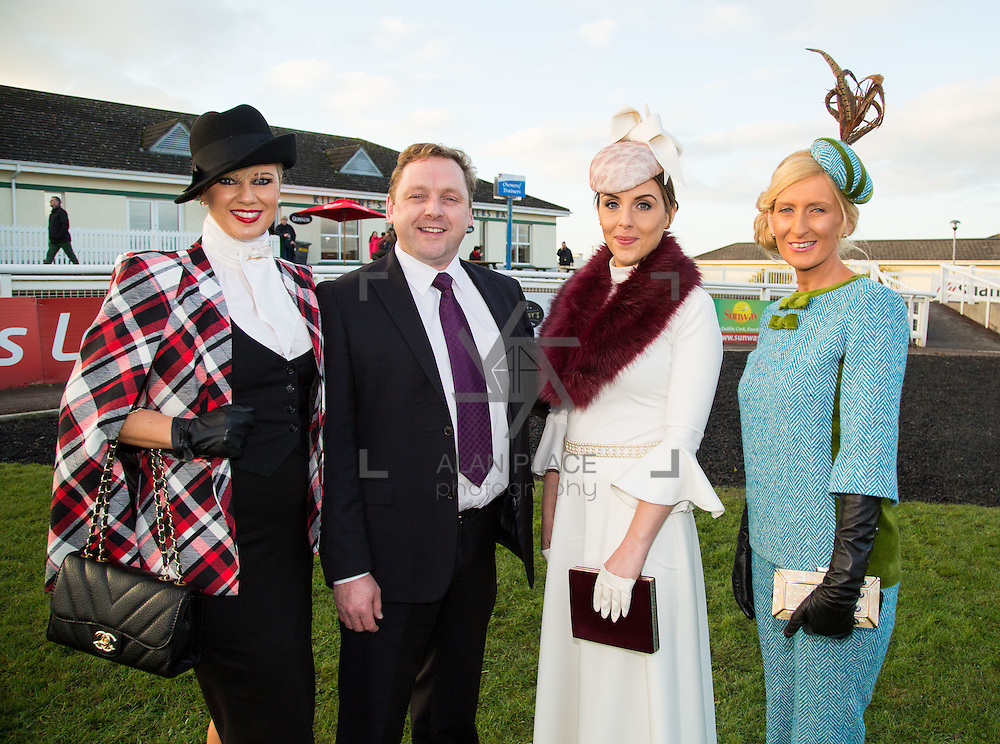 28.12.2016              <br /> The style stakes were high at Limerick Racecourse as ladies gathered for the Sunway Holidays Best Dressed Lady on Wednesday last. Breda Butler from Thurles in Co. Tipperary walked away with the top prize of a holiday for two people to Lanzarote. <br /> <br /> Pictured at the event were, Mamie Hayes, Castletroy Limerick 3rd place, Martin Hayes, Sunway Holidays, Grace Ryan Bedford Row Limerick City, 2nd Place and winner Breda Butler, Thurles Co. Tipperary. Picture: Alan Place