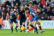 Birmingham City striker Diego Fabbrini skips away during the Sky Bet Championship match between Bristol City and Birmingham City at Ashton Gate, Bristol, England on 30 January 2016. Photo by Alan Franklin.