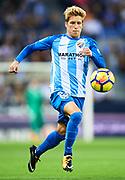 "MALAGA, SPAIN - OCTOBER 29:  Sergio Gontan ""Keko"" of Malaga CF in action during the La Liga match between Malaga and Celta de Vigo at Estadio La Rosaleda on October 29, 2017 in Malaga, .  (Photo by Aitor Alcalde Colomer/Getty Images)"