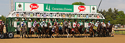 Nyquist with Mario Gutierrez up breaks from the 13 hole and went on to win the Kentucky Derby 142, Saturday, May 07, 2016 at Churchill Downs in Louisville.