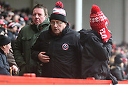 Sheffield United fans go home unhappy during the EFL Sky Bet Championship match between Sheffield United and Nottingham Forest at Bramall Lane, Sheffield, England on 17 March 2018. Picture by Mick Haynes.