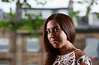 Edinburgh, UK. 14th August 2016. Edinburgh International Book Festival 2nd Day. Edinburgh International Book Festival take place in Charlotte Square Gardens. Edinburgh. Pictured Faiza Guene.<br />