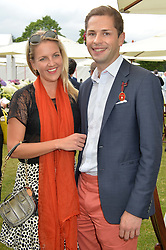 HANNELI RUPERT and SIMON PICKETT at the Cartier Queen's Cup Polo final at Guard's Polo Club, Smiths Lawn, Windsor Great Park, Egham, Surrey on 14th June 2015