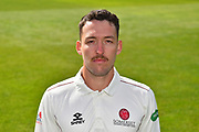 Head shot of Paul van Meekeren of Somerset during the 2019 media day at Somerset County Cricket Club at the Cooper Associates County Ground, Taunton, United Kingdom on 2 April 2019.