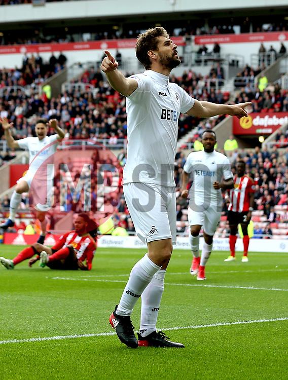 Fernando Llorente of Swansea City celebrates scoring a goal to make it 1-0 - Mandatory by-line: Robbie Stephenson/JMP - 13/05/2017 - FOOTBALL - Stadium of Light - Sunderland, England - Sunderland v Swansea City - Premier League