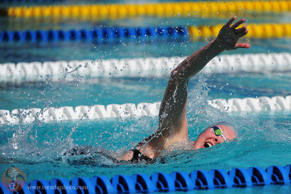 May 31, 2012; Santa Clara, CA, USA; Lauren Boyle (NZL) competes during the women's 1500-meter freestyle in the Santa Clara international grand prix at the George F. Haines International Swim Center.