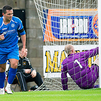 East Fife v St Johnstone...11.07.12  Pre-Season Friendly<br /> Sean Higgins celebrates his goal<br /> Picture by Graeme Hart.<br /> Copyright Perthshire Picture Agency<br /> Tel: 01738 623350  Mobile: 07990 594431