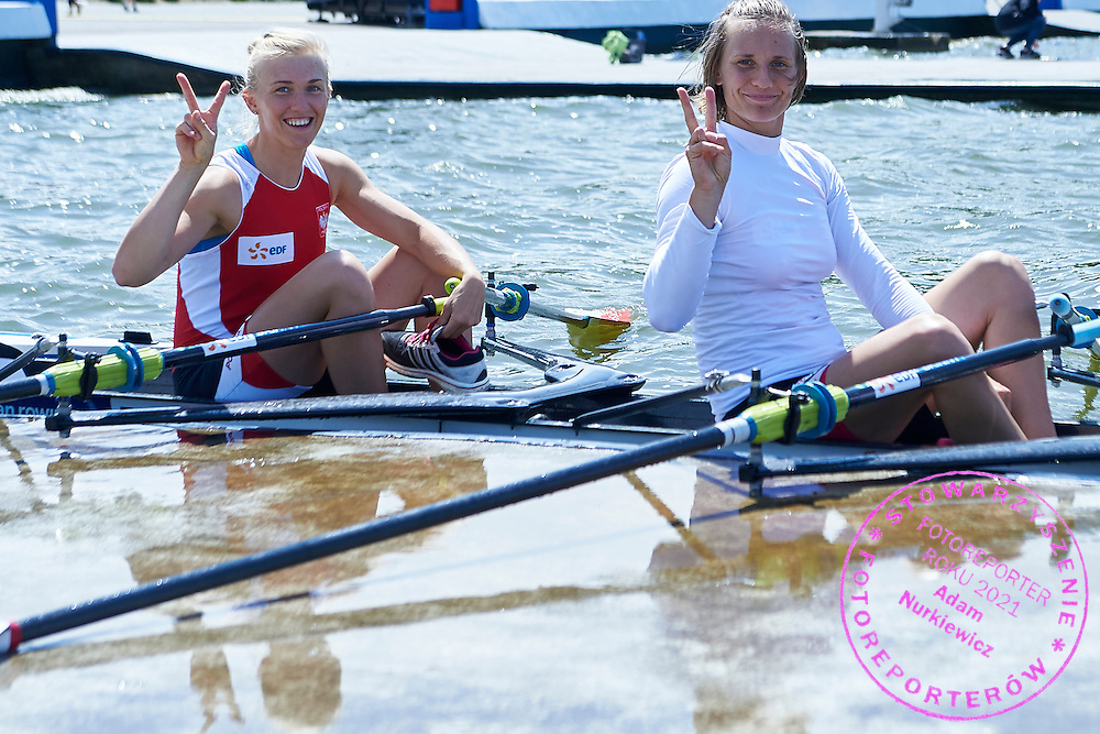 (bow) Agnieszka Kobus and (R) Joanna Leszczynska both from Poland after Semifinal at Women&rsquo;s Quadruple Sculls (W4x) during second day the 2015 European Rowing Championships on Malta Lake on May 30, 2015 in Poznan, Poland<br /> Poland, Poznan, May 30, 2015<br /> <br /> Picture also available in RAW (NEF) or TIFF format on special request.<br /> <br /> For editorial use only. Any commercial or promotional use requires permission.<br /> <br /> Mandatory credit:<br /> Photo by &copy; Adam Nurkiewicz / Mediasport