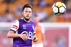 January 18, 2018 - Brisbane, QUEENSLAND, AUSTRALIA - Chris Harold of the Glory (#14) chases after a ball during the round seventeen Hyundai A-League match between the Brisbane Roar and the Perth Glory at Suncorp Stadium on January 18, 2018 in Brisbane, Australia. (Credit Image: © Albert Perez via ZUMA Wire)