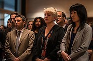 People sing the French national anthem at French Embassy in tribute to victims on July 15, 2016 in Tokyo, Japan. At least 84 people were killed when a truck ploughs into crowd celebrating in Bastille Day in the city of Nice. 15/07/2016-Tokyo, JAPAN
