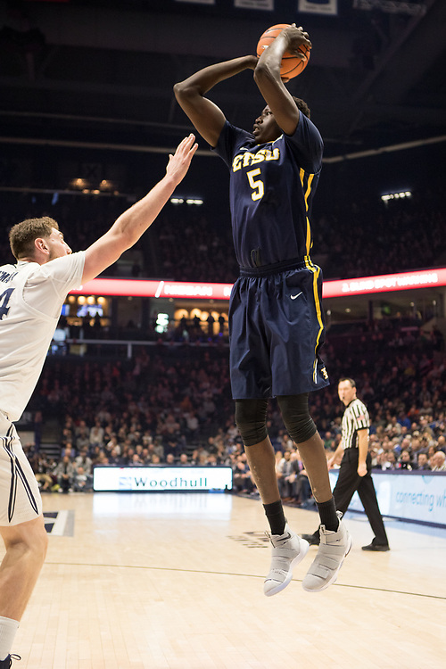 December 16, 2017 - Cincinatti, Ohio - Cintas Center: ETSU center Peter Jurkin (5)<br /> <br /> Image Credit: Kevin Schultz