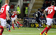 Ben Pringle opens the scoring during the Sky Bet Championship match between Rotherham United and Bolton Wanderers at the New York Stadium, Rotherham, England on 27 January 2015. Photo by Richard Greenfield.