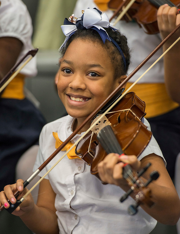 Students from Codwell Elementary School perform during a ribbon cutting ceremony at Sterling High School, March 3, 2017.