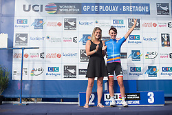 Katarzyna Niewiadoma (POL) of Rabo-Liv Cycling Team retains her overall lead in the best young rider's overall ranking after the 121.5 km road race of the UCI Women's World Tour's 2016 Grand Prix Plouay women's road cycling race on August 27, 2016 in Plouay, France. (Photo by Balint Hamvas/Velofocus)