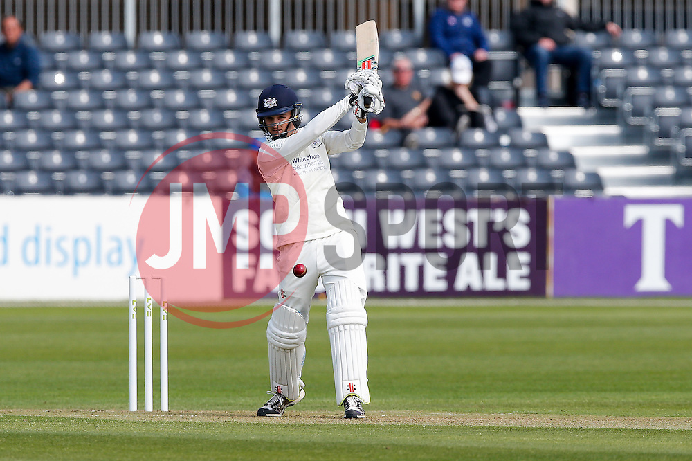 Gareth Roderick of Gloucestershire plays a shot - Photo mandatory by-line: Rogan Thomson/JMP - 07966 386802 - 26/04/2015 - SPORT - CRICKET - Bristol, England - Bristol County Ground - Gloucestershire v Derbyshire — Day 1 - LV= County Championship Division Two.