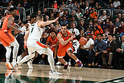January 30, 2019: Wabissa Bede #3 of Virginia Tech during the NCAA basketball game between the Miami Hurricanes and the Virginia Tech Hokies in Coral Gables, Florida. The Hokies defeated the 'Canes 82-70.