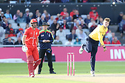Alex Thomson of the Birmingham Bears during the Vitality T20 Blast North Group match between Lancashire Lightning and Birmingham Bears at the Emirates, Old Trafford, Manchester, United Kingdom on 10 August 2018.