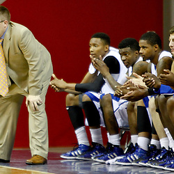 November 27, 2011; New Orleans, LA; New Orleans Privateers head coach Mark Slessinger against the Alcorn State Braves during the second half of a game at the Lakefront Arena. New Orleans defeated Alcorn St. 63-56. Mandatory Credit: Derick E. Hingle-US PRESSWIRE
