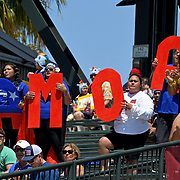 Manu Samoa fans form a Samoa sign at the World Cup 7's USA, AT&T Park, San Francisco, California, USA.  Photo by Barry Markowitz, 7/20/18, 2:35pm