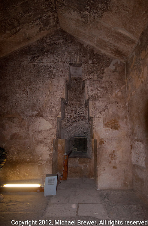The Queen's Chamber in the Great Pyramid, Giza, Egypt.