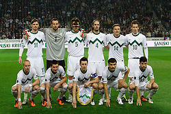 Team of Slovenia during EURO 2012 Quaifications game between National teams of Slovenia and Italy, on March 25, 2011, SRC Stozice, Ljubljana, Slovenia. (Photo by Vid Ponikvar / Sportida)