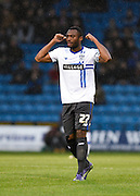 Bury defender Nathan Cameron (captain) during the Sky Bet League 1 match between Gillingham and Bury at the MEMS Priestfield Stadium, Gillingham, England on 14 November 2015. Photo by David Charbit.