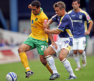 Cardiff - Saturday August 23rd, 2008: Stephen McPhail of Cardiff City and Darel Russell of Norwich City during the Coca Cola Championship match at The Ninian Park, Cardiff. (Pic by Paul Hollands/Focus Images)