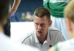 Milos Sporar, head coach of Slovenia during basketball match between National teams of Slovenia and Germany in Division A of U16 Men European Championship Lithuania 2012, on July 20, 2012 in Panevezys, Lithuania. (Photo by Robertas Dackus / Sportida.com)