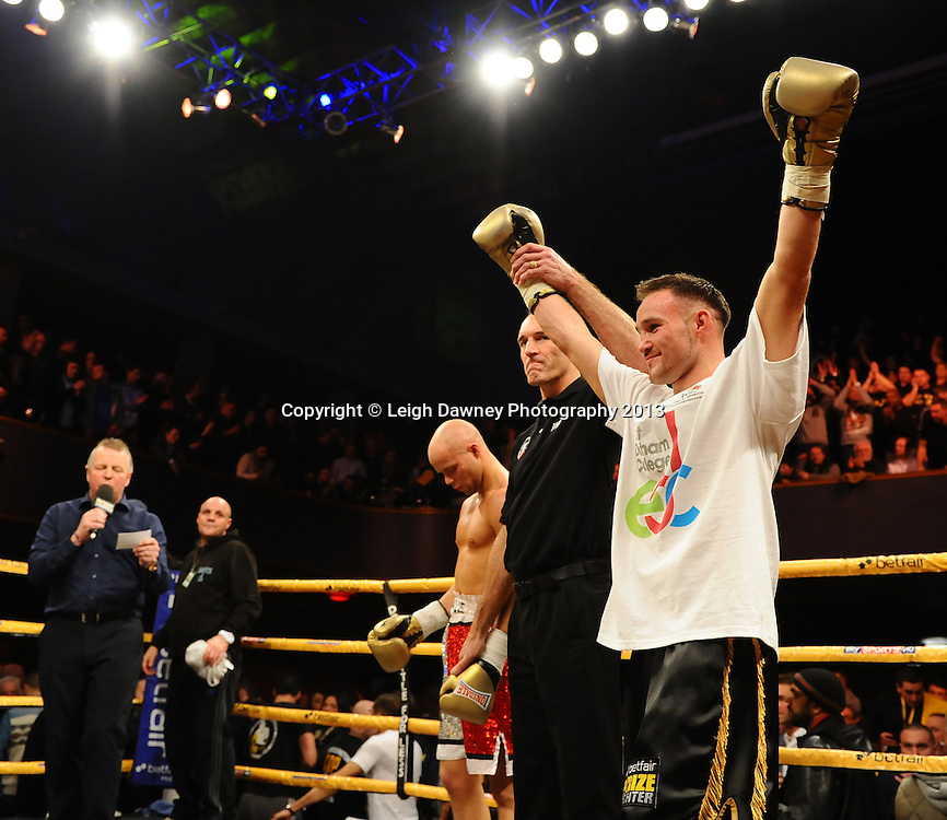 Glenn Foot defeats Stephen Pearce in Quarter Final Four at Welterweights 111, Civic Hall Wolverhampton. on the 19th January 2013. Matchroom Sport/ Prizefighter © Leigh Dawney 2013
