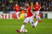 Manchester United midfielder Bruno Fernandes (18) during the Europa League match between Club Brugge and Manchester United at Jan Breydel Stadion, Brugge, Belguim on 20 February 2020.