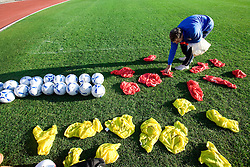 Igor Bencic Cine of Slovenian National football team preparing markers for practice a day before the last 2010 FIFA Qualifications match between San Marino and Slovenia, on October 13, 2009, in Olimpico Stadium, Serravalle, San Marino.  (Photo by Vid Ponikvar / Sportida)