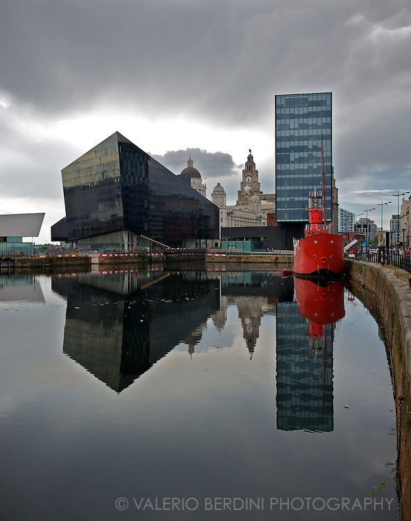Another cloudy day over Liverpool docks