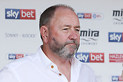 Gary Johnson during the EFL Sky Bet League 2 match between Cheltenham Town and Crawley Town at LCI Rail Stadium, Cheltenham, England on 4 August 2018. Picture by Antony Thompson.