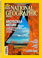 Monument Valley, Utah on the cover of the Polish edition of National Geographic Magazine by Blaine Harrington III.