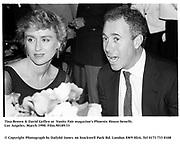 Tina Brown &amp; David Geffen at  Vanity Fair magazine's Phoenix House benefit. Los Angeles. March 1990.<br /><br />&copy; Copyright Photograph by Dafydd Jones<br />66 Stockwell Park Rd. London SW9 0DA<br />Tel 0171 733 0108<br />Film.90189/33
