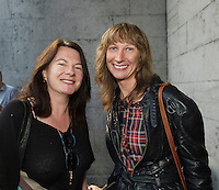 22/07/2015 repro free  Ali Carr Lahinch  and Patricia Hayes Ennistymon Co Clare at the Ulster Bank sponsored evening at The Galway International Arts Festival's production of Frank McGuinnesses'  The Match Box, starring Cathy Belton At the Town Hall Theatre. Photo:Andrew Downes.