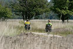 fietsen, mensen, Kampina