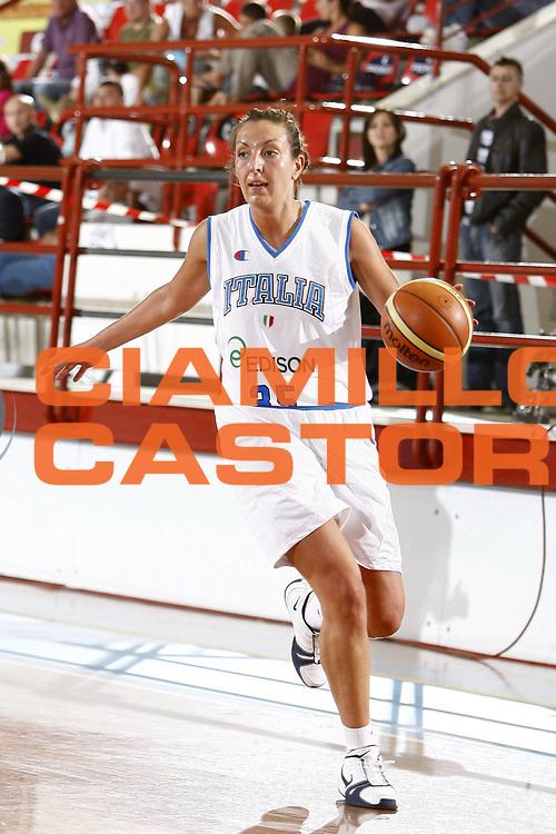 DESCRIZIONE : Porto San Giorgio Torneo Internazionale Basket Femminile Italia Croazia<br /> GIOCATORE : Emanuela Ramon<br /> SQUADRA : Nazionale Italia Donne<br /> EVENTO : Porto San Giorgio Torneo Internazionale Basket Femminile<br /> GARA : Italia Croazia<br /> DATA : 28/05/2009 <br /> CATEGORIA : palleggio<br /> SPORT : Pallacanestro <br /> AUTORE : Agenzia Ciamillo-Castoria/E.Castoria