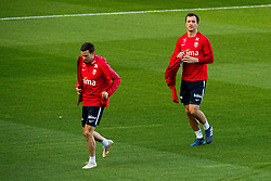 October 10, 2018 - Oslo, NORWAY - 181010 Martin Linnes and Even Hovland of Norway during a training session on October 10, 2018 in Oslo..Photo: Jon Olav Nesvold / BILDBYRÃ…N / kod JE / 160323 (Credit Image: © Jon Olav Nesvold/Bildbyran via ZUMA Press)