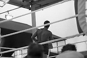 Ali vs Lewis Fight, Croke Park,Dublin..1972..19.07.1972..07.19.1972..19th July 1972..As part of his built up for a World Championship attempt against the current champion, 'Smokin' Joe Frazier,Muhammad Ali fought Al 'Blue' Lewis at Croke Park,Dublin,Ireland. Muhammad Ali won the fight with a TKO when the fight was stopped in the eleventh round..