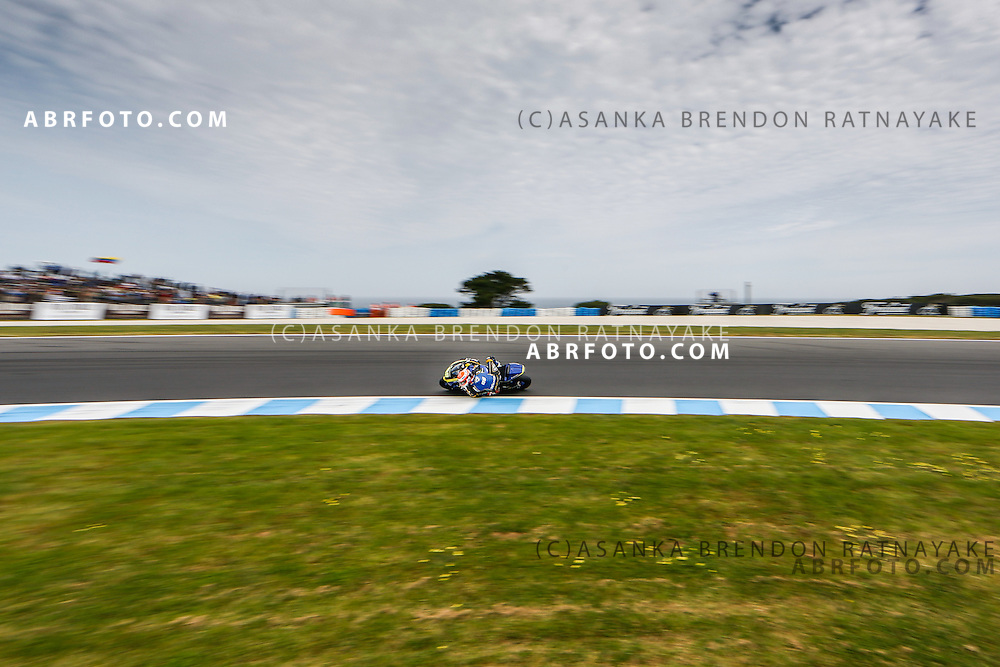 Alessandro Nocco riding for team speed up during the moto2 race at Phillip Island Grand Prix Circuit at Phillip Island Victoria Australia on the 19th October 2014. Photo Asanka Brendon Ratnayake