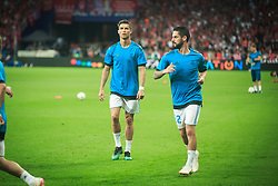 Cristiano Ronaldo of Real Madrid and Isco of Real Madrid at warming up prior to the UEFA Champions League final football match between Liverpool and Real Madrid at the Olympic Stadium in Kiev, Ukraine on May 26, 2018.Photo by Sandi Fiser / Sportida