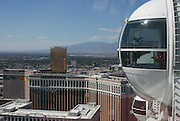 The Las Vegas Strip as seen from the High Roller, a 550-foot observation wheel at the Linq Hotel and Casino in Las Vegas, Nevada on Monday, June 8, 2015.