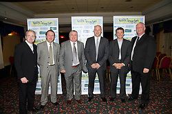 LIVERPOOL, ENGLAND - Friday, May 7, 2010: L-R: John Bailey, Ian Muir, Ronnie Goodlass, Joe Parkinson, Barry Horne, and Billy Ashcroft during an Everton Charity Dinner to support Health Through Sport. (Pic by: David Rawcliffe/Propaganda)