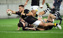 Wellington's Wes Goosen scores against Hawkes Bay in the Mitre 10 Cup rugby match at Westpac Stadium, Wellington, New Zealand, Wednesday, September 06, 2017. Credit:SNPA / Ross Setford  **NO ARCHIVING**