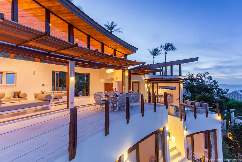 Terrace, Villa Kya, a luxury, private villa located in the hills of Bophut, Koh Samui, Thailand
