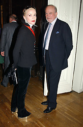 DAPHNE GUINNESS and CLAUS VON BULOW at a party to celebrate the publication of Andrew Robert's new book 'Waterloo: Napoleon's Last Gamble' and the launch of the paperback version of Leonie Fried's book 'Catherine de Medici' held at the English-Speaking Union, Dartmouth House, 37 Charles Street, London W1 on 8th February 2005.<br /><br />NON EXCLUSIVE - WORLD RIGHTS