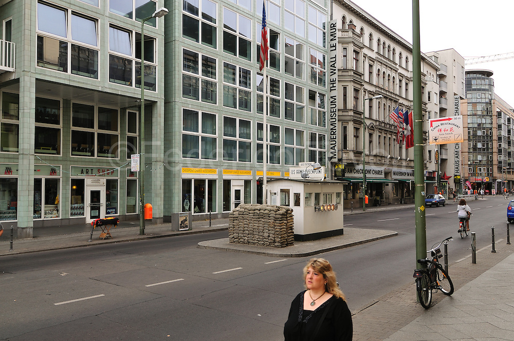 A gray border post time now Checkpoint Charlie is a piece of history in the new Berlin