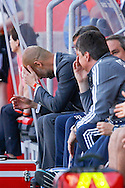 Pep Guardiola, head coach of Bayern Munich during the Bundesliga match at Audi Sportpark, Ingolstadt<br /> Picture by EXPA Pictures/Focus Images Ltd 07814482222<br /> 07/05/2016<br /> ***UK &amp; IRELAND ONLY***<br /> EXPA-EIB-160507-0066.jpg